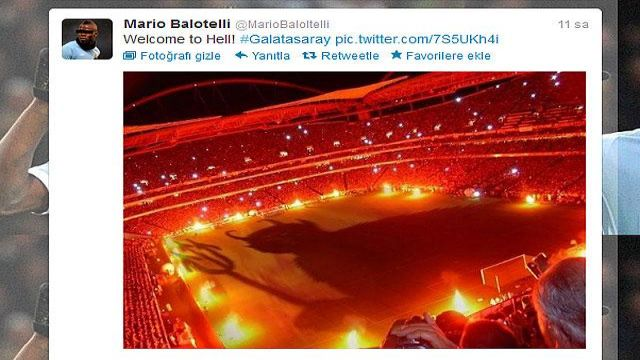Balotelli'den Galatasaray tweeti!